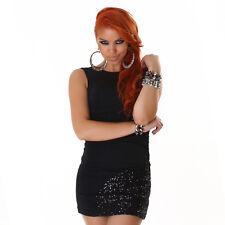 Sexy Kleid Schwarz 34 36 38 Pailetten Kleid Minikleid Partykleid Abendkleid