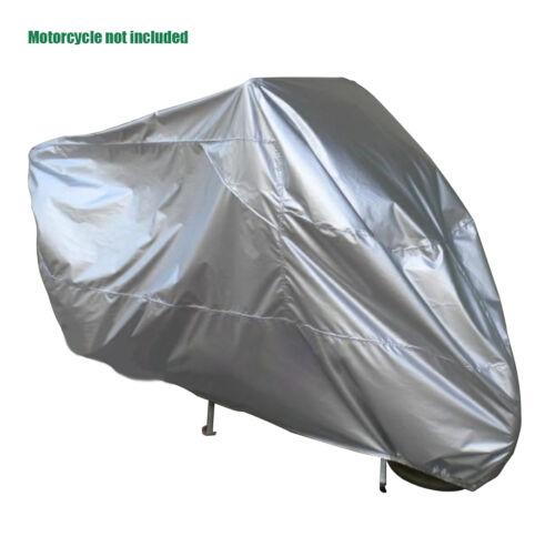 220x95x110 Silver 190T Taffeta Motorcycle Cover Rain Dust UV Proof Anti-scratch