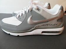 Nike Air Max Wright 3 White/WolfGrey Leather Mens Size 10.5 687974-110 New w/o B