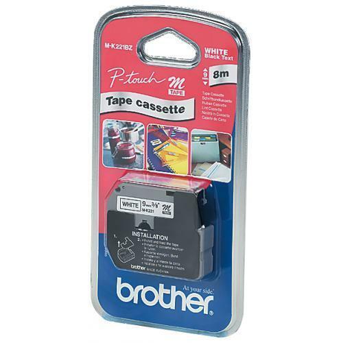 brother M-Tape M-K221S Schriftbandkassette 9 mm Bandbreite