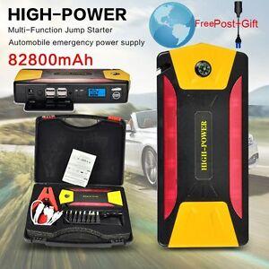 82800mah car jump starter emergency charger booster power. Black Bedroom Furniture Sets. Home Design Ideas