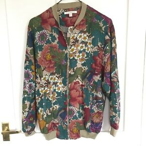 6f0bee79d Details about Zara Floral Bomber Jacket - Flowers in size S small