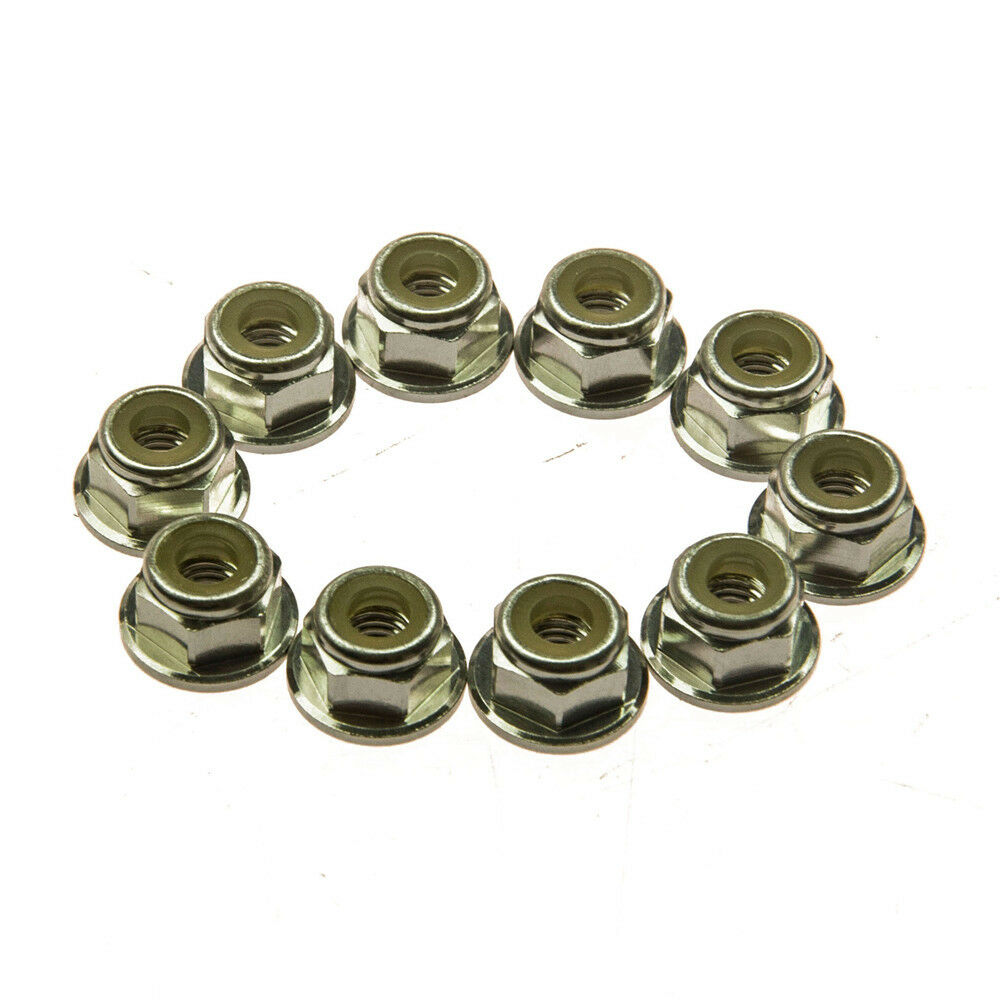 Parts /& Accessories 10pcs//lot CW Thread Top Quality Aluminum M5 Flanged Nylon Lock Nut M 5 Self-Locking Nut Metal Nuts Color: Gold