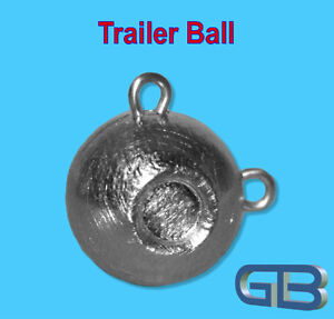 Trailer-Ball-Kugelblei-mit-Ose-30g-Jigkopf-Rundkopf-Grundblei