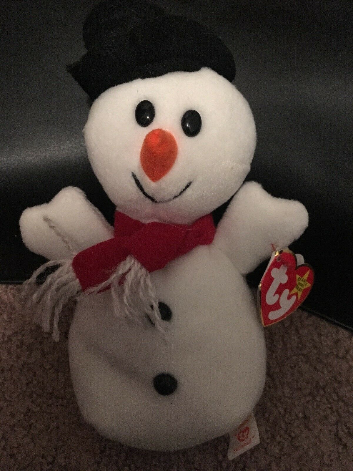 Rare 1996 Snowball Beanie Baby_PVC Pellets, no red stamp