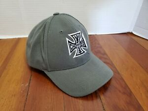 West-Coast-Choppers-Adult-Hat-Ball-Cap-Adjustable-Motorcycle-Cross-Gray