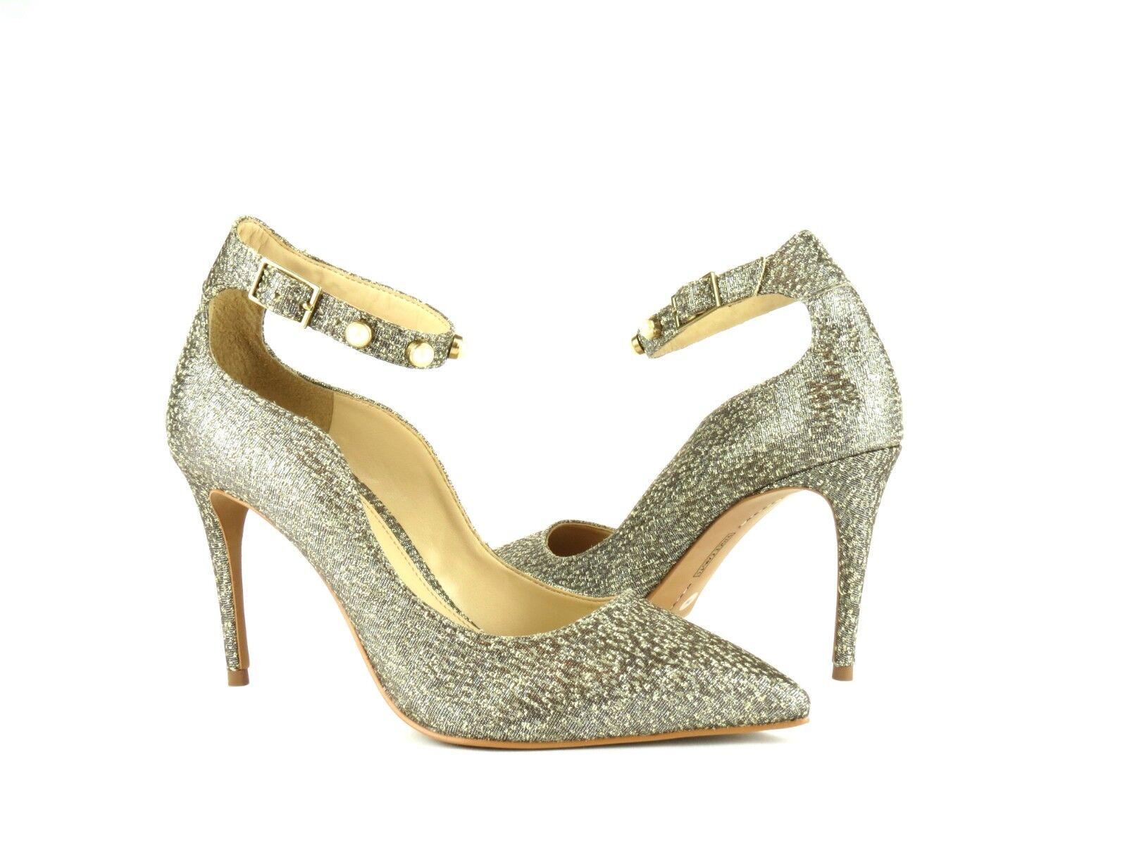 risparmia fino al 70% Vince Vince Vince Camuto Jassita Bronze Metallic Brocade Jeweled Ankle Strap Pump Heel 10  design semplice e generoso