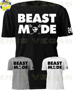 innovative design e4d26 ad10a Details about Oakland Raiders Beast Mode Marshawn Lynch Face 24 Jersey Tee  T Shirt Men S-5XL