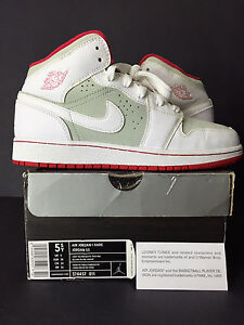a396842b20 2009 NIKE AIR JORDAN I 1 RETRO HARE YOUTH 5.5 WOMEN 7 5 6 6.5 7.5 4 ...