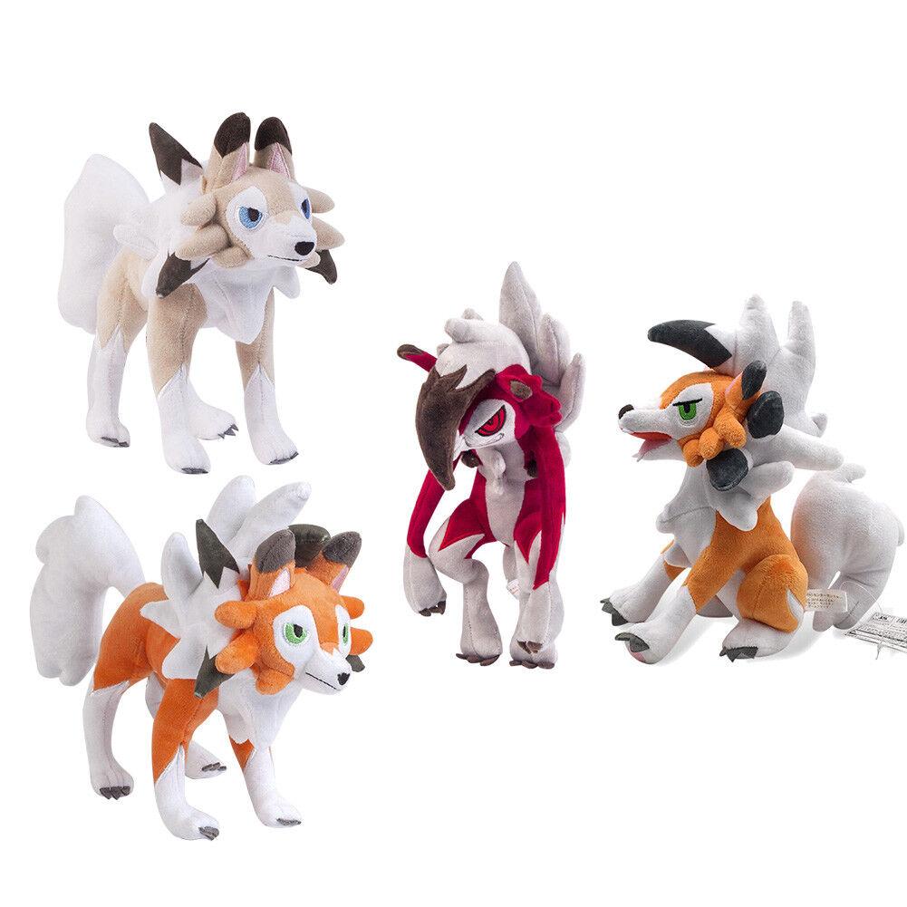 Pokey Lycanroc Midday Duk Midnight Forms Plush Doll Fylld Figur leksaker Gift