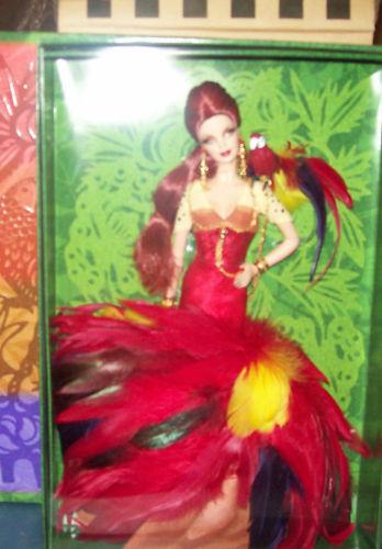 2008 The Scarlet Macaw Muñeca Barbie mnrfb