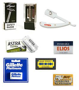 Rasoio-da-Barba-Professionale-e-Lame-acciaio-inossidabile-Daune-Astra-Elios-Bic