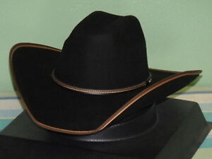 8d994efbabc Image is loading STETSON-FOOTHILLS-JUNIOR-BLACK-WOOL-KID-SIZE-COWBOY-