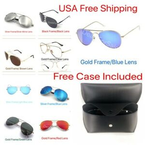6a66e1fb698 Image is loading New-Womens-Pilot-Aviator-Fashion-Sunglasses-Shades-Retro-