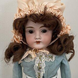 """Antico tedesco pupazzo bambola DEP 154 Bisque Testa Bambola 16"""""""