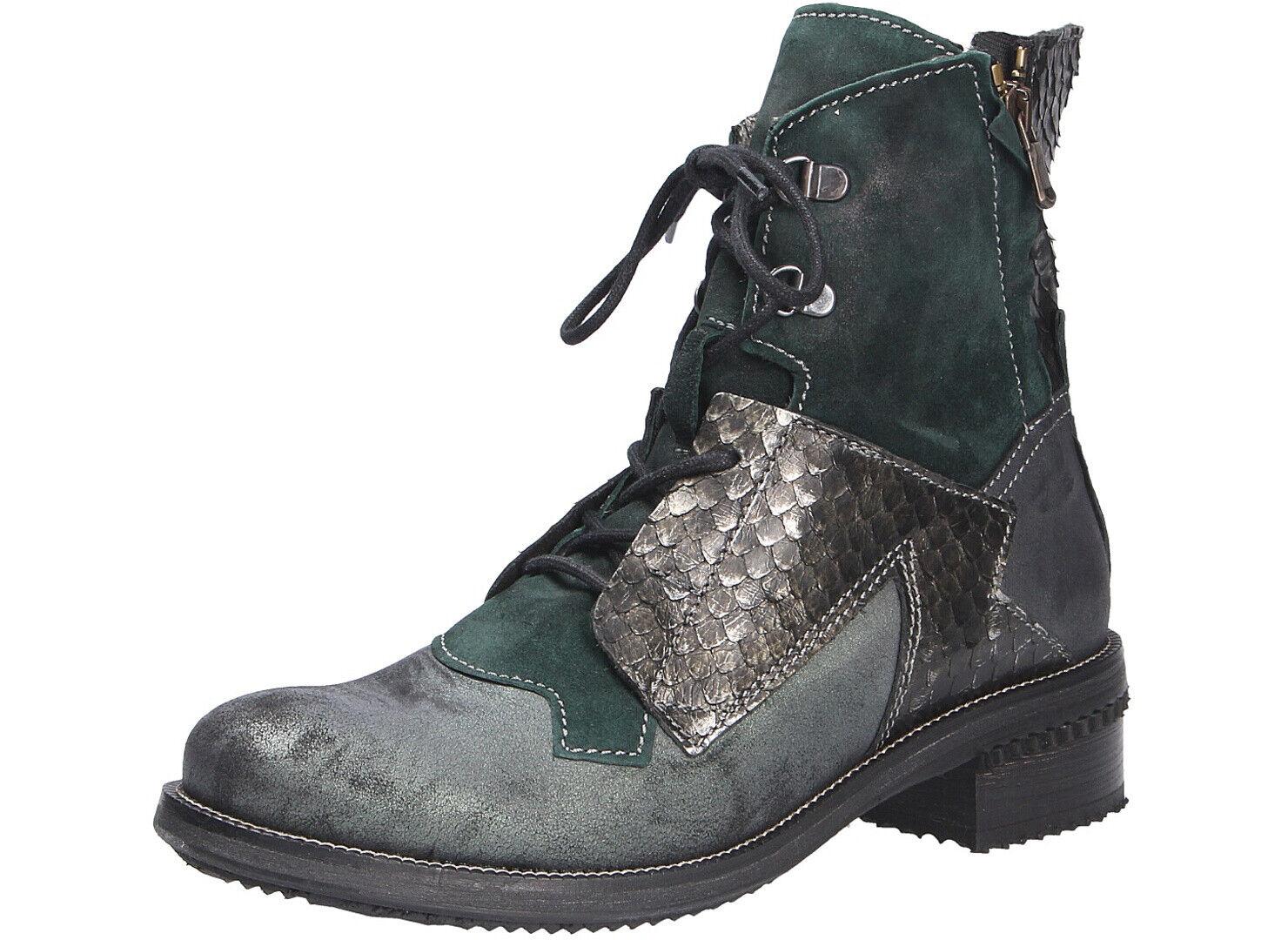 Charme Damen Fashion Stiefel Stiefel 803L-combA Grün NEU