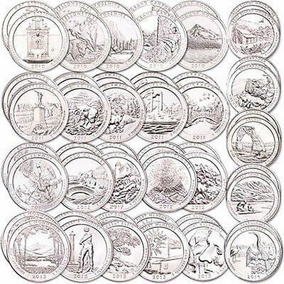 2010 -2015  D  America the beautiful National Park Quarters  28 coins set