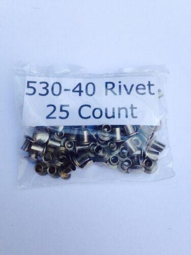 25 LIONEL 530-40 RIVETS FOR LIONEL lamp bracket GP 7 /& 9 25 RIVETS TOTAL