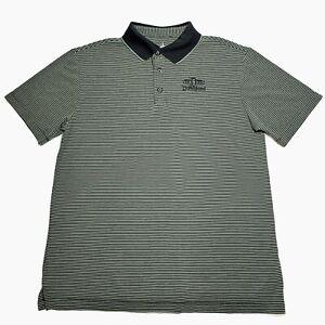 Parques-de-Disney-Camisa-Polo-para-hombre-Talla-M-Logotipo-Gris-a-Rayas-Golf-Disneyland-Mickey