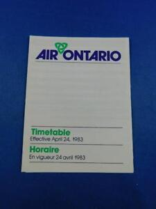 AIR-ONTARIO-AIRLINE-POCKET-TIMETABLE-SCHEDULE-APRIL-1983-ADVERTISING