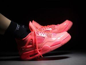 Nike-Jordan-4-Retro-NRG-caliente-Air-Punch-Negro-Volt-ninas-Para-mujeres-De-Zapatillas-Todas-Las