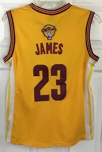 buy popular 85aa9 56c27 Details about Adidas NBA 4 Her Cavs #23 LeBron James Stitched Jersey The  Finals Women's Sz M