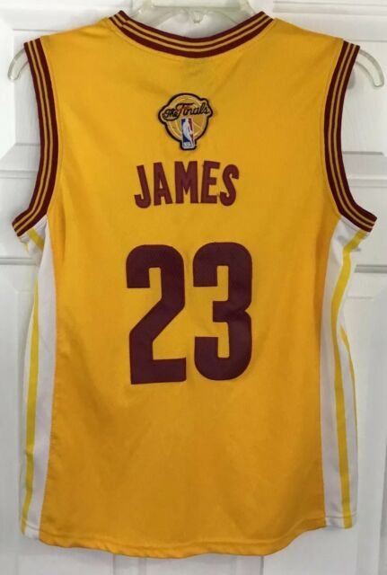 Adidas NBA 4 Her Cavs  23 LeBron James Stitched Jersey THE FINALS Women s  Sz M 77adbf986