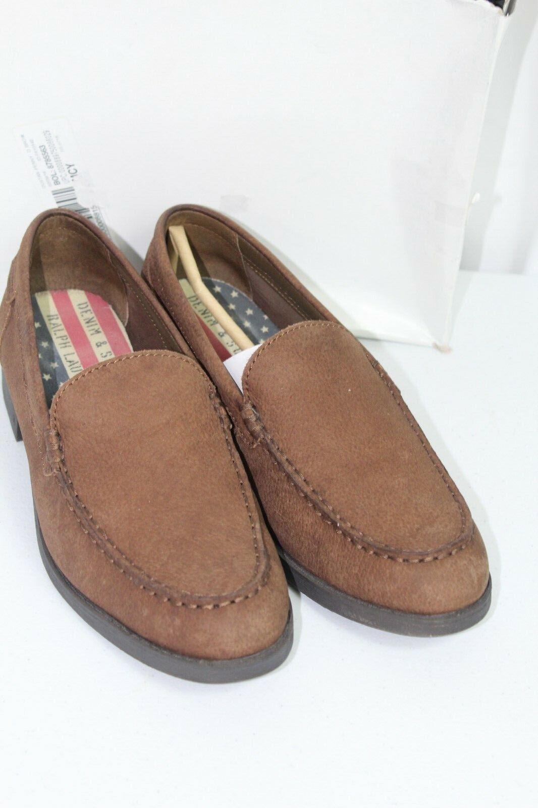 Ralph Lauren Mens Denim Supply Size 8.5D Sandi Brown Khaki Leather Casual shoes