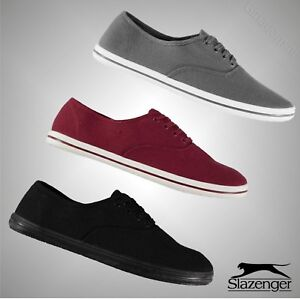Mens-Branded-Slazenger-Casual-Lace-Up-Canvas-Pumps-Trainers-Footwear-Size-7-11