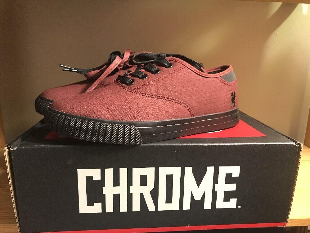 Chrome Mens Truk Box Canvas Brick Black Sneaker M's7.5   W's9