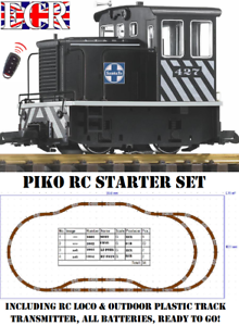 PIKO-G-SCALE-45mm-GAUGE-RC-2-4GHZ-LOCO-amp-TRACK-SET-RADIO-REMOTE-CONTROL-TRAIN