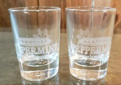 Dekuyper Peppermint Schnapps With Snowflake On Back Side Shot Glass