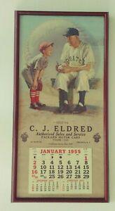 1955-Brown-Bigelow-Baseball-HOF-Calendar-HONUS-WAGNER-Packard-Motor-Cars-Oneonta