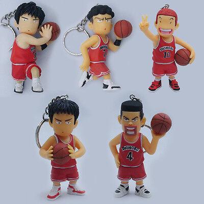 5x Slam Dunk Basketball Player Keychain Figure Set