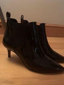 Whistles Orley Black Patent Kitten Heel