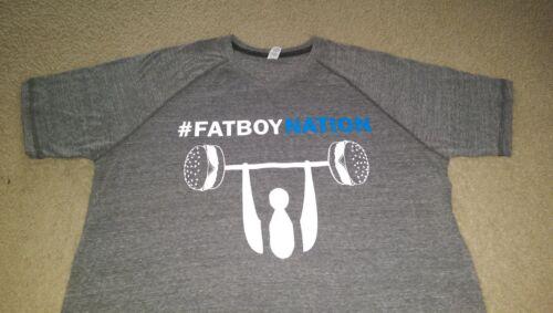 fatboynation v neck large gray short sleeve performance tshirt 2xlarge