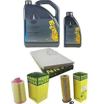 inspektionspaket 6l mercedes l 229 5 5w40 mann filterpaket 11087724 ebay. Black Bedroom Furniture Sets. Home Design Ideas