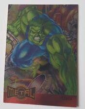 Marvel Metal, Metal Blaster Karte Hulk Marvel Trading Cards