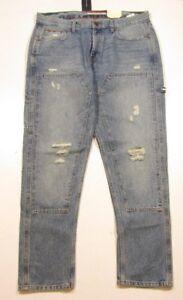83cfc9c2 Tommy Hilfiger Men's Medium Wash Relaxed Tapered Carpenter Jeans | eBay