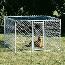 Medium Outdoor 6 x 6 Feet Steel Chain Link Portable Yard Kennel Dog House Cage