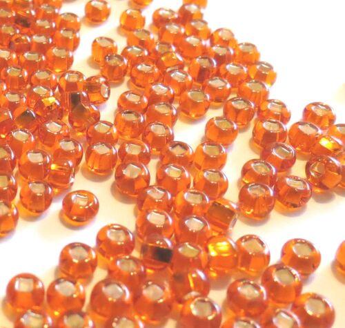 "3.0mm for hook sizes 16, 14, 12 Pumkinhead 50 7//64/"" Orange Seed Beads"