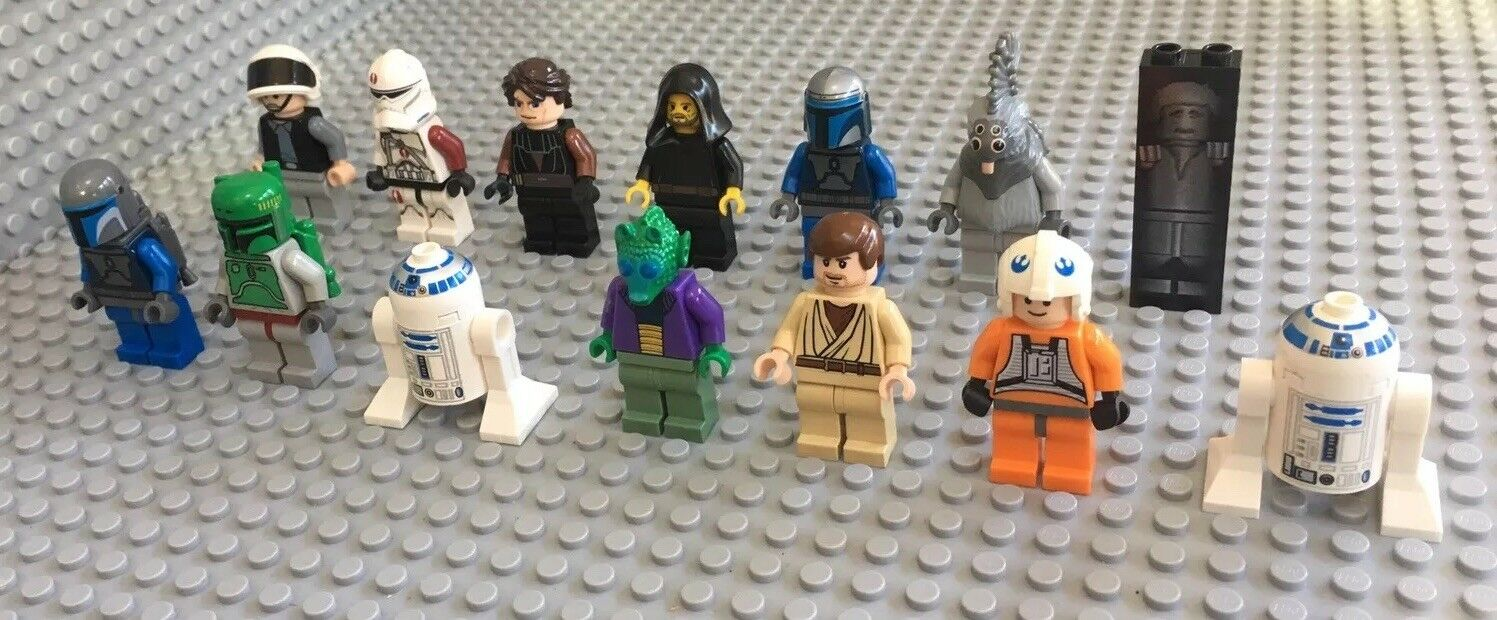 Lego Lot Of 13 Star Wars Mini Figures / Imperial & Rebel / Boba Fett