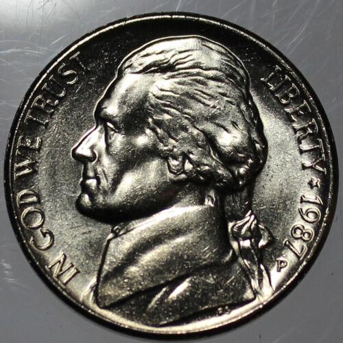 SP 1987-P Full Step FS Gem BU Jefferson Nickel