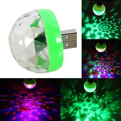 Portable Mini USB Disco Light Party DJ Karaoke Xmas Ball 3W LED Lamp D T8O8.