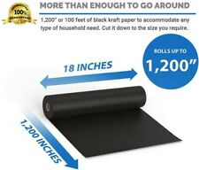 Kraft Packing Arts And Crafts Paper Black Roll 18 X 100 Ft 1200 Heavy Duty Usa