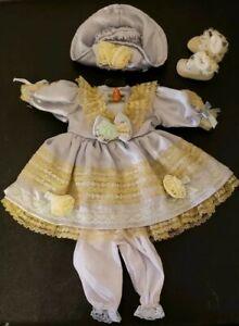 Doll-Clothes-16-034-Porcelain-Dress-Shoes-Hat-Socks-Pantaloons-Clothing-Lt-Blue-NEW