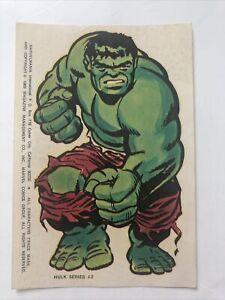 Marvelmania Incredible Hulk sticker-series J2-vintage 1966-original unused-4 x 6
