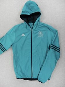 Details about Boston Marathon 2016 Adidas ClimaProof Running Jacket (Mens  Small) Teal
