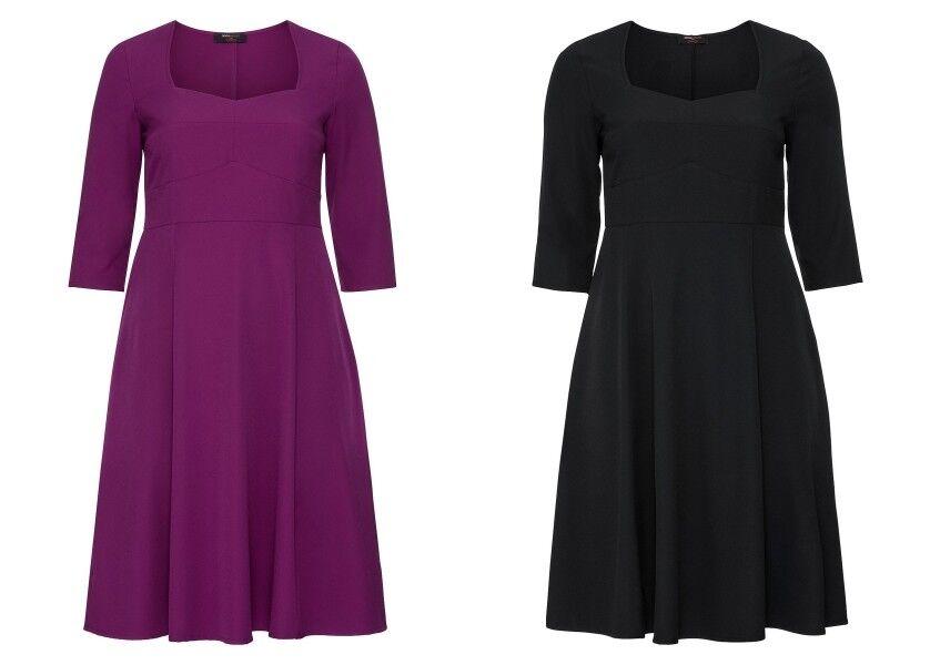 Sheego Damen Bustier Kleid lila Cocktail Abend Party Dress Schwarz Lila NEU