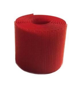 "2 m Cinta marca VELCRO® Rojo 50 mm coser solo pincho macho hook 5 cm 2"" sewing"
